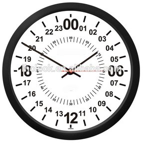 TRINTEC 24 HOUR MILITARY TIME SWL ZULU TIME 24HR WALL CLOCK 10""