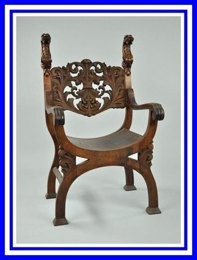 Wood carved arm chairs 3