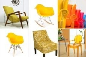 Yellow arm chairs