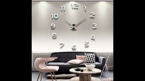 Yesurprise Modern 3D Frameless Large Wall Clock Style Watches Hours DIY Room Home Decorations Model MAX3 #1