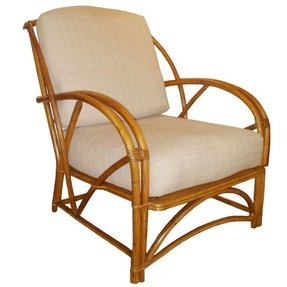 1930s american bamboo arm chair