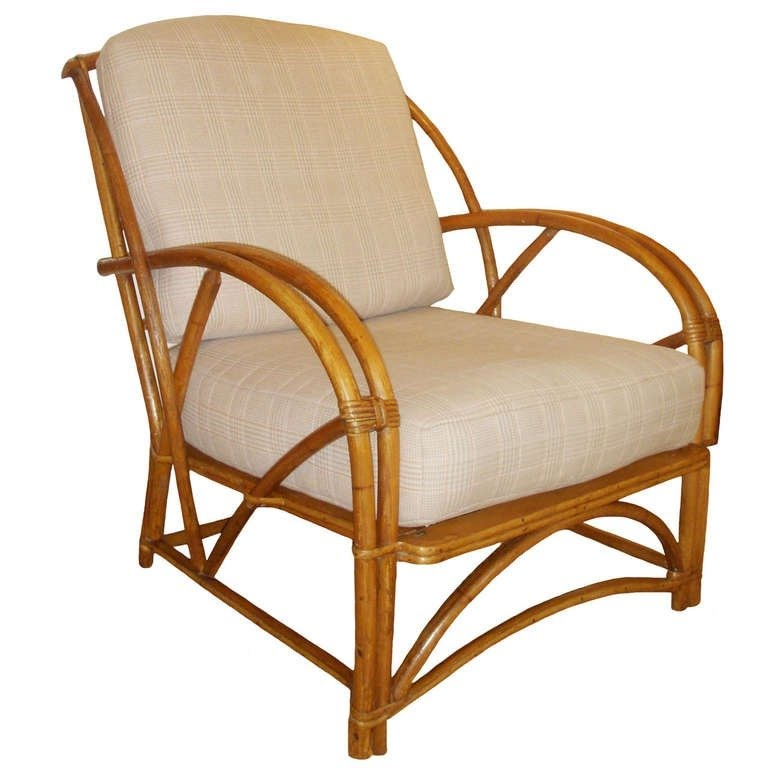 Superbe 1930s American Bamboo Arm Chair