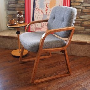 60s vintage danish modern chair hon grey