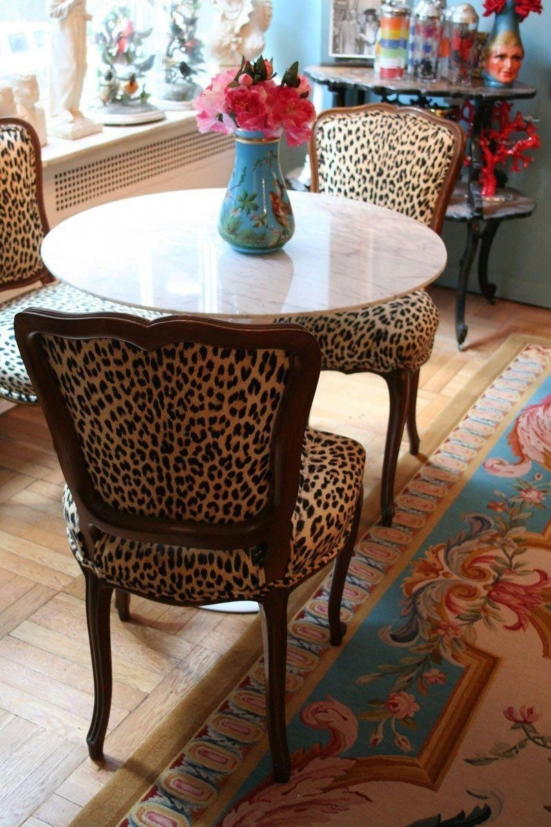 Etonnant Animal Print Dining Room Chairs