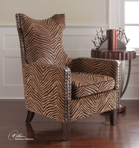 Attractive Animal Print Arm Chair - Foter YL22