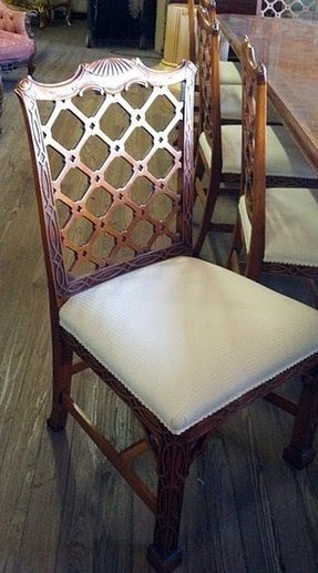 Antique chippendale chairs 9