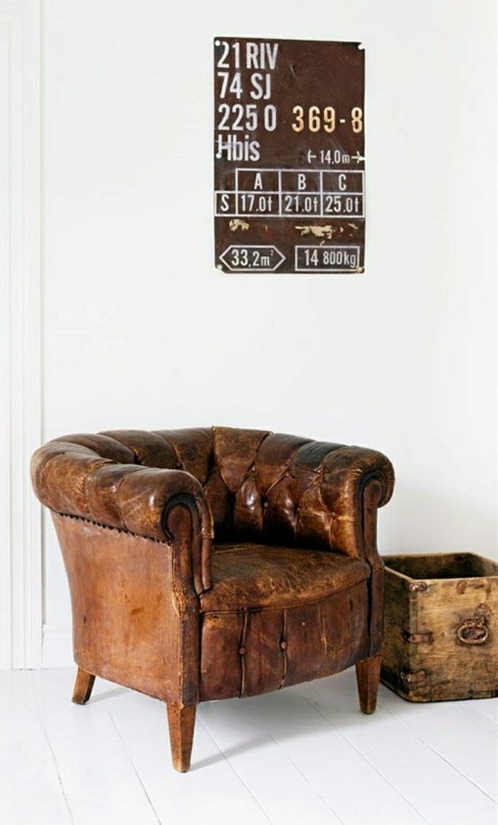 Antique Leather Armchairs 2