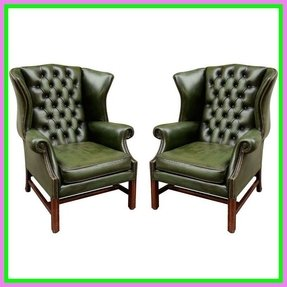 Antique leather chairs 16