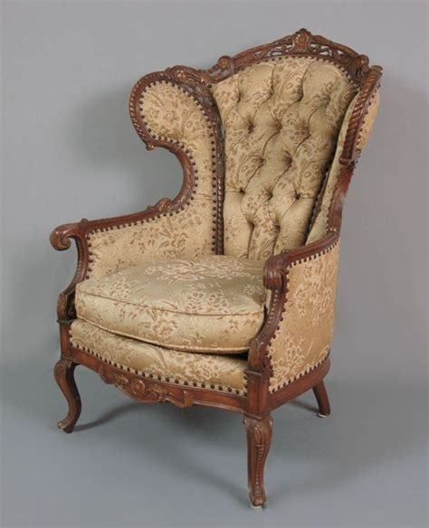 Chairs Antiques Provided French Antique Walnut Parlour Chairs.