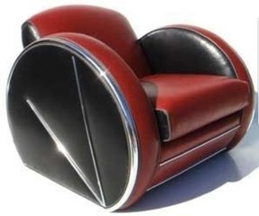 Art deco leather chair 2