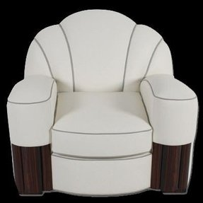 Art deco leather chair 4
