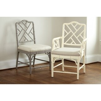 Bamboo dining arm chairs 1