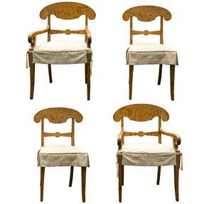 Biedermeier dining arm chairs 5