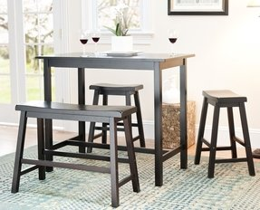 High Kitchen Table With Stools Foter