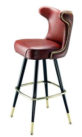 Blue swivel bar stools