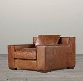 Fabulous Leather Wide Arm Chair Ideas On Foter Machost Co Dining Chair Design Ideas Machostcouk