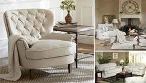 Linen Living Room Chair - Foter