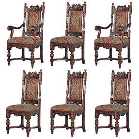Carved mahogany arm chair 5