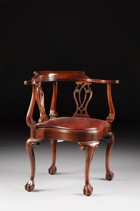 Carved mahogany chippendale style chair 2