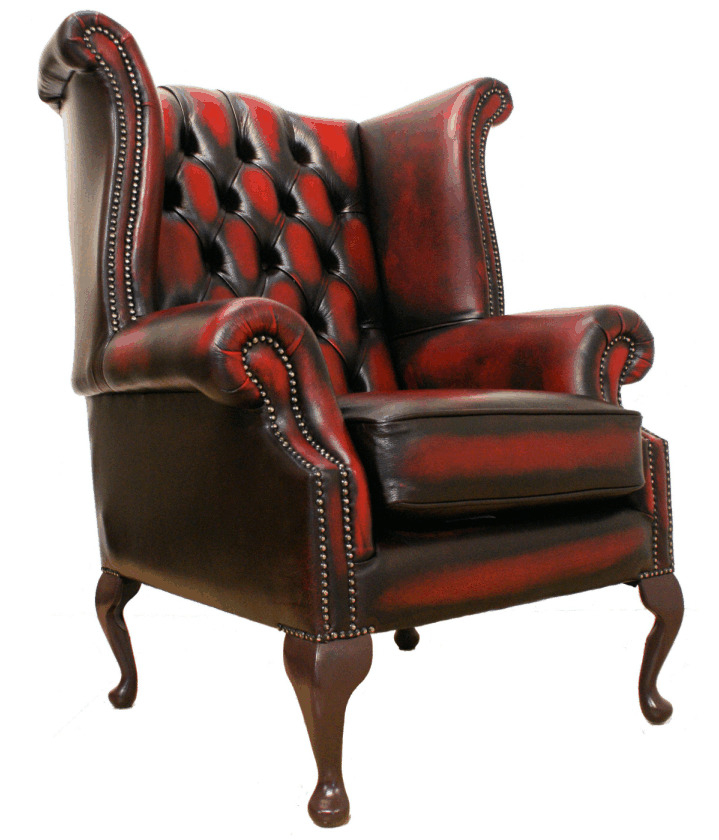 Charmant Chesterfield Leather Arm Chair