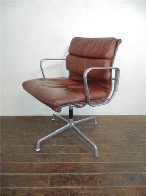 Chestnut brown leather chair 1