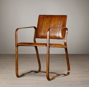 Chestnut brown leather chair 21