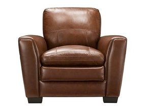 Chestnut brown leather chair 31