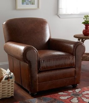 Chestnut brown leather chair 6