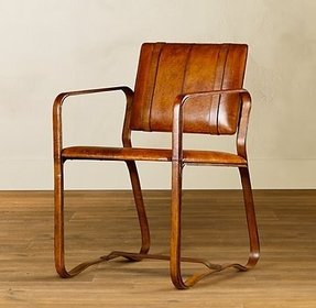 Chestnut leather chair 1