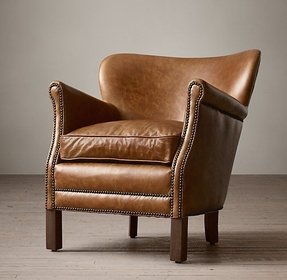 Chestnut leather chair
