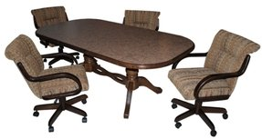 Commercial Dining Chairs With Casters Dinette Sets Room Furniture