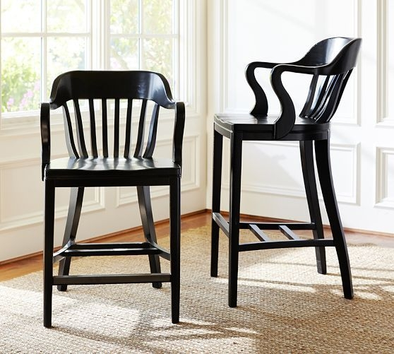 Courthouse wood barstool