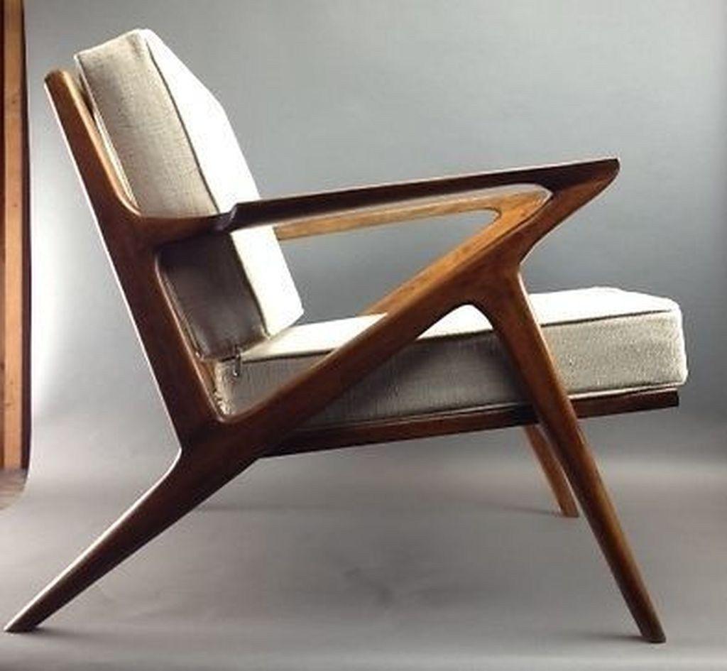 Charming Danish Mid Century Modern Selig Z Style Teak Lounge Chair