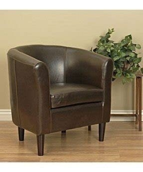 Dark brown leather arm chair 2