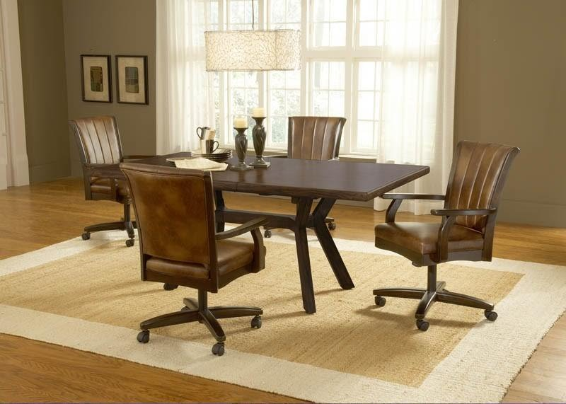 Gentil Dining Room Chairs With Casters 10