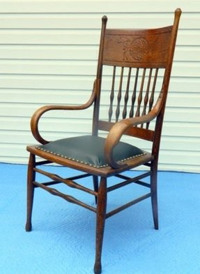 Dining room oak arm chair 7