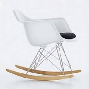 Eames plastic arm chairs 4