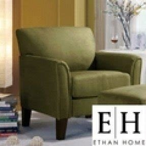Ethan home uptown sage microfiber modern arm accent chair