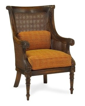 Fabric wicker arm chair 12