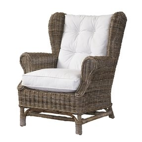 Fabric wicker arm chair 2