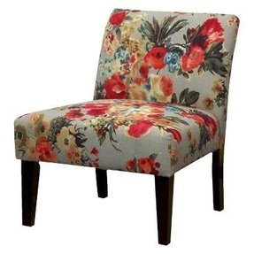 Floral fabric chairs