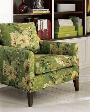 Floral upholstered accent chair 3