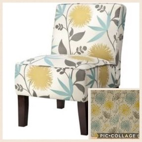 Floral upholstered accent chair 4