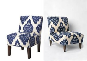 Floral upholstered accent chair 6