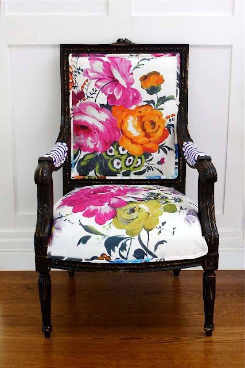 Good Floral Wingback Chair