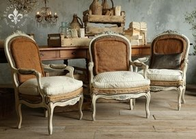French country upholstered chairs 2