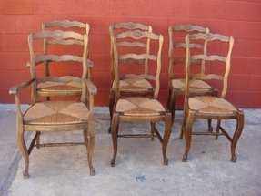 French ladder back arm chair 1