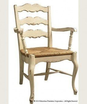 French ladder back arm chair 4
