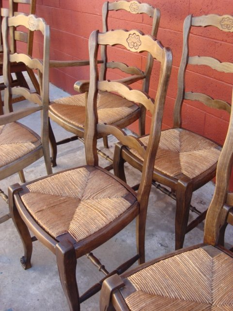 Great French Ladder Back Arm Chair