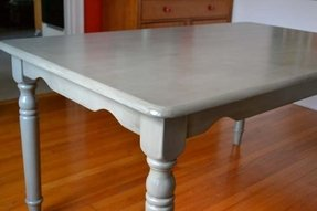 Grey painted dining room furniture